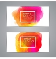 Watercolor festive Banner Cards for Wedding vector image