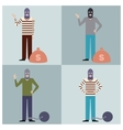 Set of Thieves3 vector image