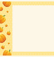 frame of thanksgiving style collection vector image
