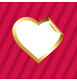 Heart sticker vector image