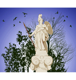 historical statue of Athena vector image
