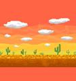 pixel art desert seamless background vector image