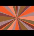 Rays Radius Background Center Orange vector image