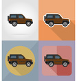 transport flat icons 05 vector image
