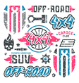 Stock set of off road car badges vector image