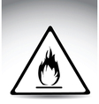 Flame warning sign vector image vector image