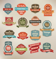 Set of retro labels buttons and icons vector image vector image