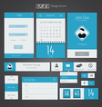 Flat web design elements 5 vector image
