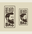 Beard bro vector image