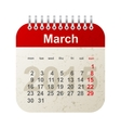 calendar 2015 - march vector image vector image