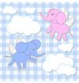 babies-elephants angels vector image