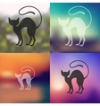 cat icon on blurred background vector image