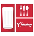 catering food service milk cup spoon fork knife vector image