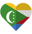 Comoros flat heart flag vector image
