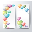 Heart shaped colorful balloons vector image
