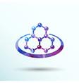 icon molecular research chemistry model atom vector image
