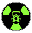 isolated radioactive signal vector image