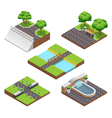 Landscaping Isometric Compositions vector image