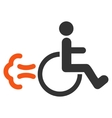 Patient Movement Flat Icon vector image