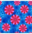 red and blue flower seamless pattern vector image