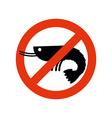 Stop shrimp Banned deep-water plankton Frozen vector image