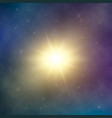 sun light abstract bright star in space dark vector image