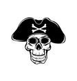 pirate in hat vector image vector image