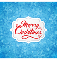 Christmas banner with red greeting inscription vector image