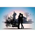 kissing couple in Greece vector image vector image