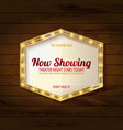 retro light sign on wooden background vector image