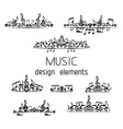 set of music page decorations vector image