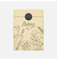 Kraft paper takeaway bag with Sketched baking vector image