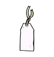 comic cartoon luggage tag vector image