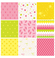 9 Seamless Baby Patterns Baby Texture Wallpaper vector image