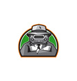 Mobster Car Grille Face Arms Folded Front Retro vector image