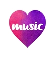 abstract heart with lettering vector image