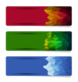banner set with geometric shape designs vector image