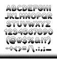Comic Font Black Offset Print vector image