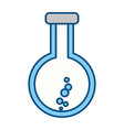 erlenmeyer flask chemistry vector image