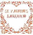 Floral Pattern Valentine Hearts vector image