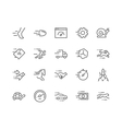 Line Speed Icons vector image