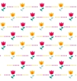 Paper Trendy Flat Flower Seamless Pattern vector image
