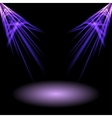 Two light on stage vector image
