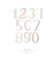 Pastel colored hand drawn numbers Digits vector image