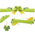 Set of Floral Banners Element for design vector image