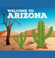 cactus plants in arizona state vector image