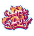 hip-hop in graffiti funky style vector image