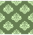 Floral seamless pattern with light green on dark vector image