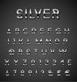 Silver alphabet set vector image