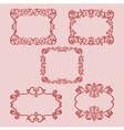 set frame pattern red vector image vector image